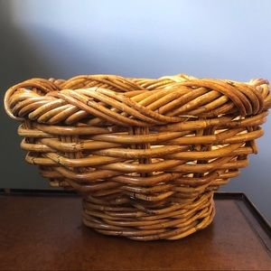 Art Nouveau Rattan Fruit Bowl